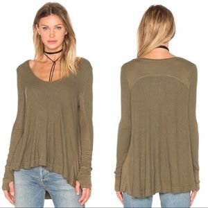 Free People • Thermal Knit Long Sleeve Top Olive